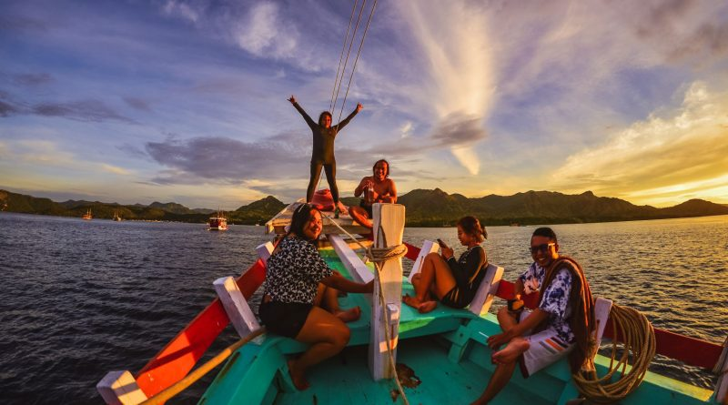 Sunset with Crew at Labuan Bajo