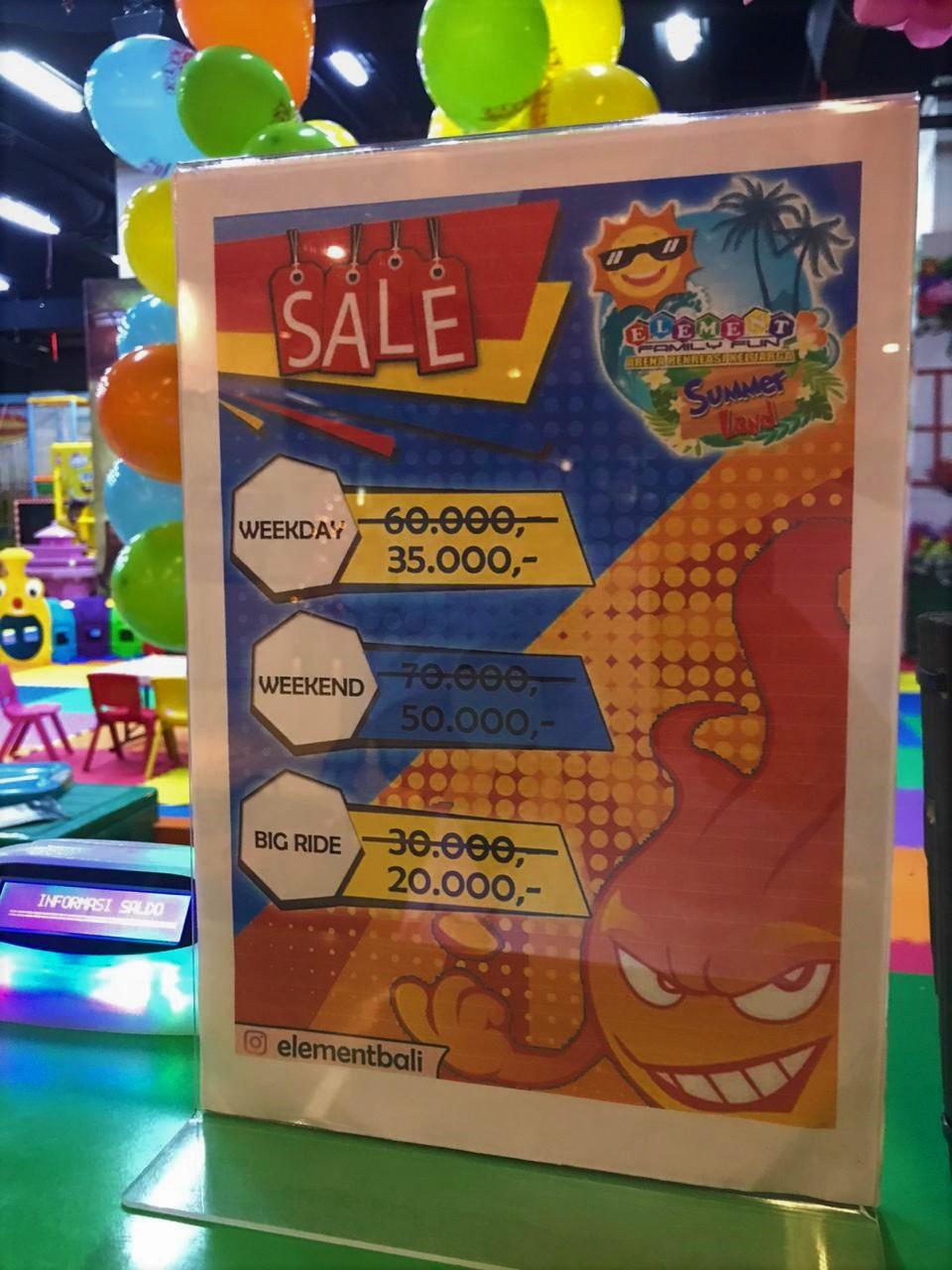 Tiket Masuk Summerland Lippo Mall Kuta