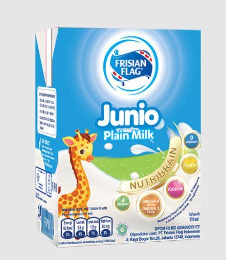 Junio UHT Plain Milk by Frisian Flag (110 ml)