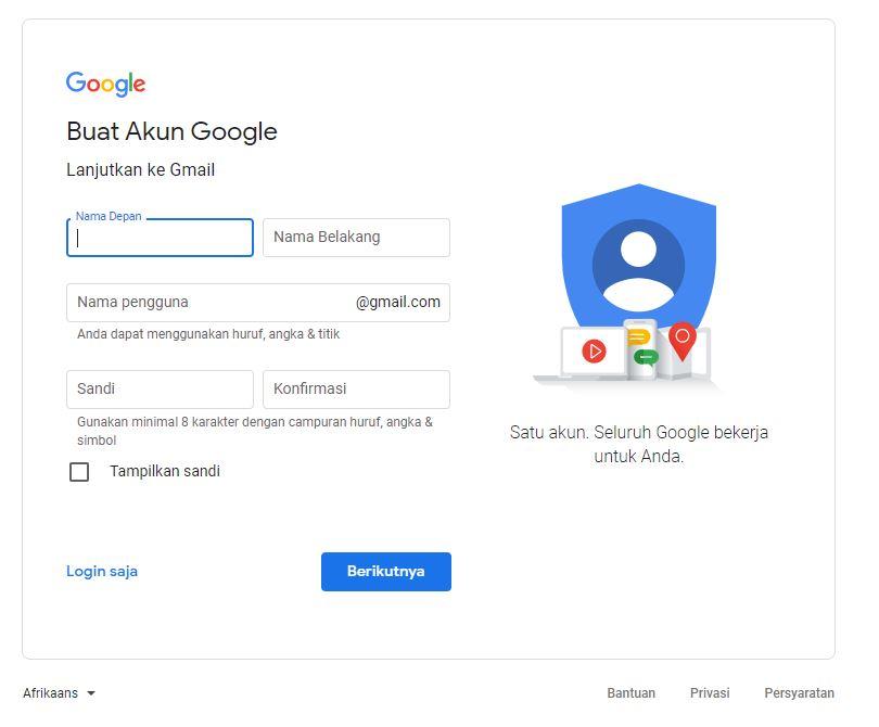 Buat Akun Gmail 2